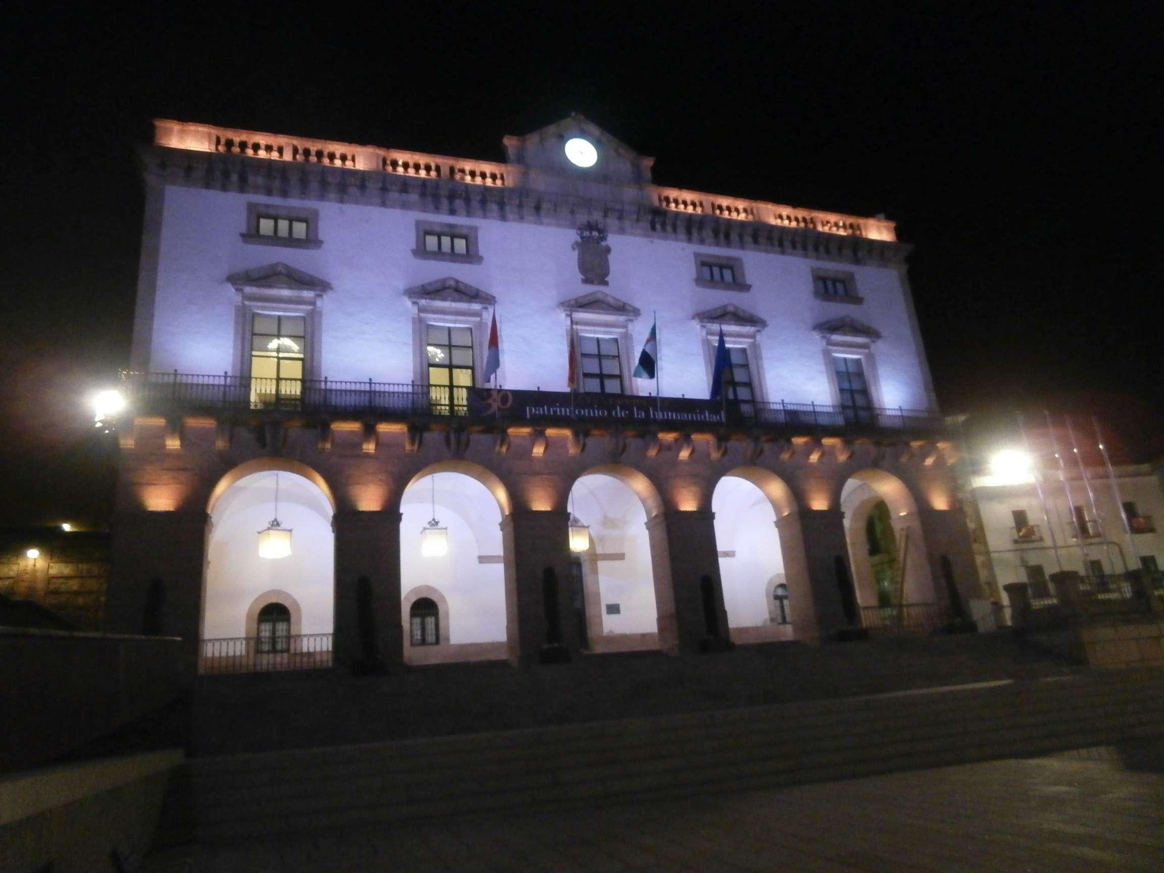 Fachada del Ayuntamiento de Cáceres